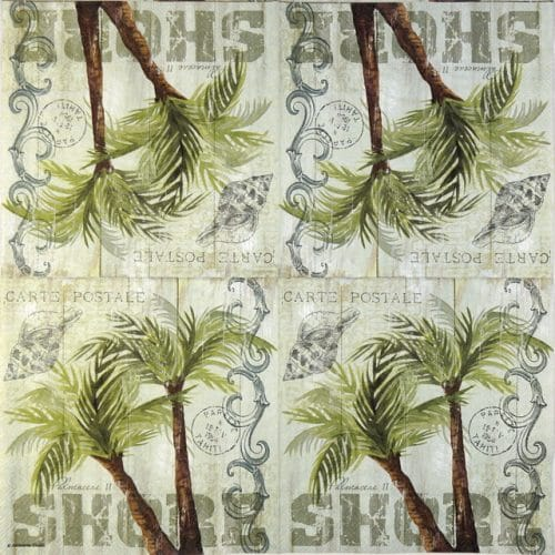 Paper Napkin - Palm Trees