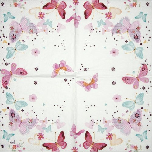 Cocktail Napkin - Lovely butterflies_Home Fashion_111413