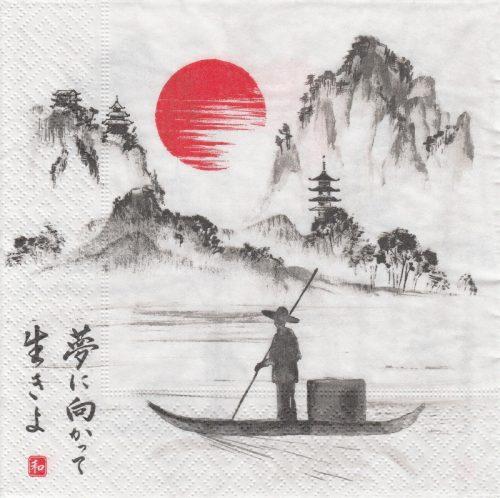 Paper Napkin - Japanese boat