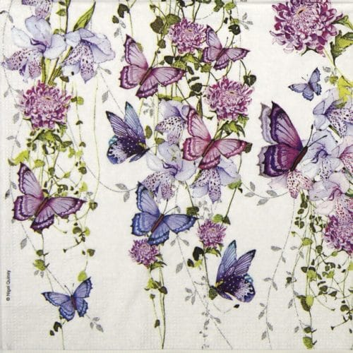 Paper Napkin - Nigel Quiney: Butterfly Splash