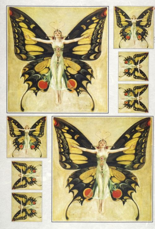 Rice Paper - Fairies butterfly