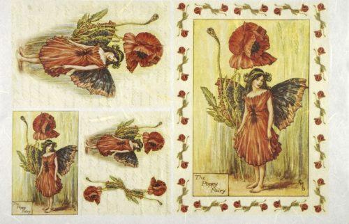 Rice Paper - Poppy Flower Fairy