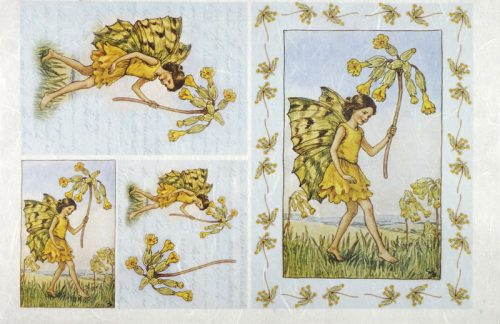 Rice Paper - Fairies yellow