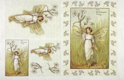Rice Paper - Fairies white