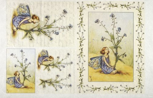 Rice Paper - The Forget me not Fairy