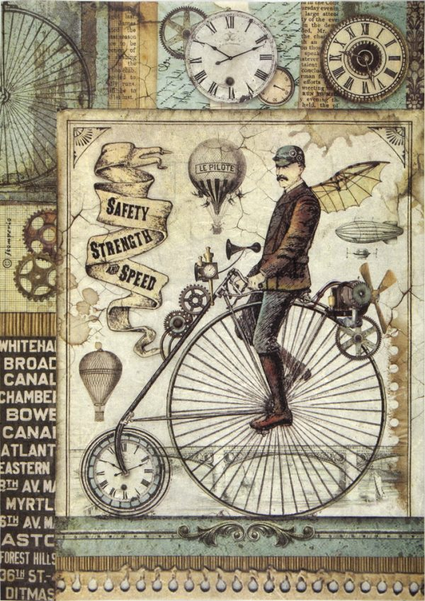 Rice Paper - Retro Bicycle