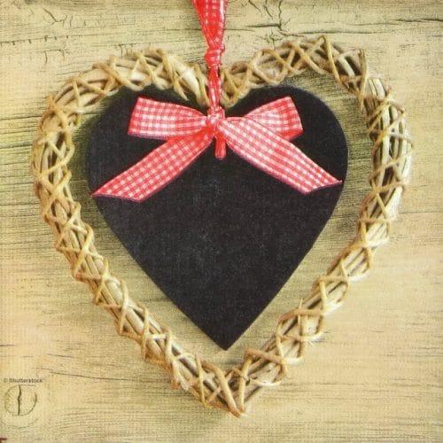 Paper Napkin - Shutterstock: Country Heart