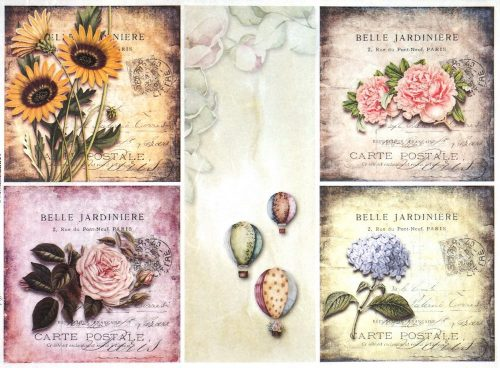 Rice Paper - Flower cards
