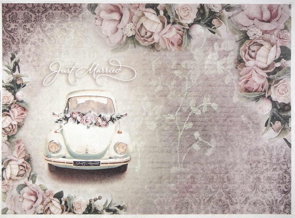 Rice Paper - Just Married pink