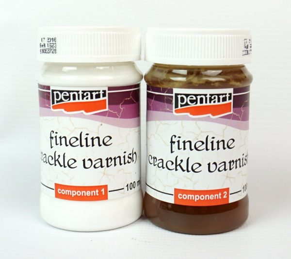 Pentart Fineline Crackle Varnish 2x100ml set
