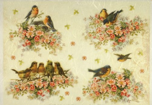 Rice Paper - Flowers with birds