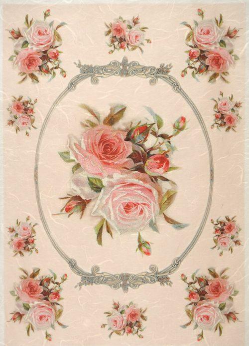 Rice Paper - Rose in frame