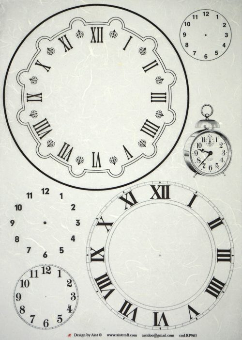 Rice Paper - Clocks black/white