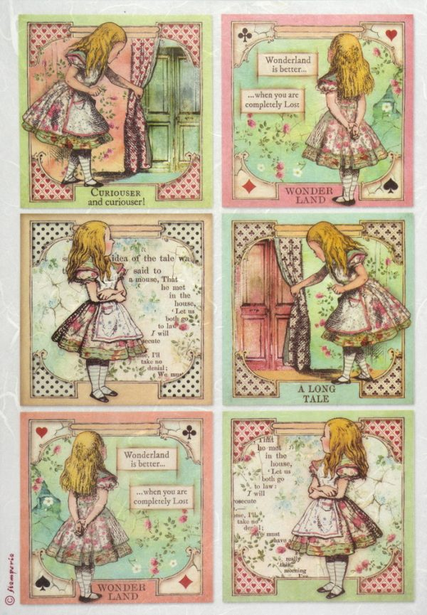 Rice Paper - Alice Cards