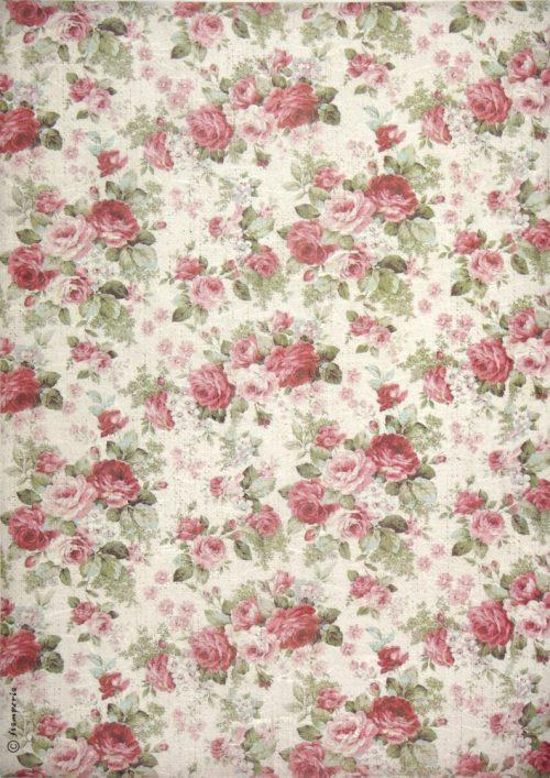 Rice Paper - Texture Big Roses