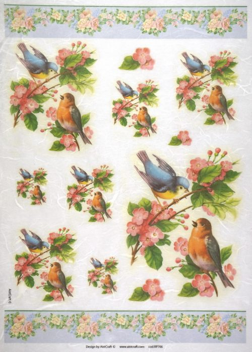 Rice Paper - Flowers and birds