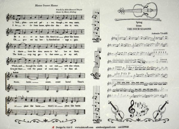 Rice Paper - Vintage Musical Notes