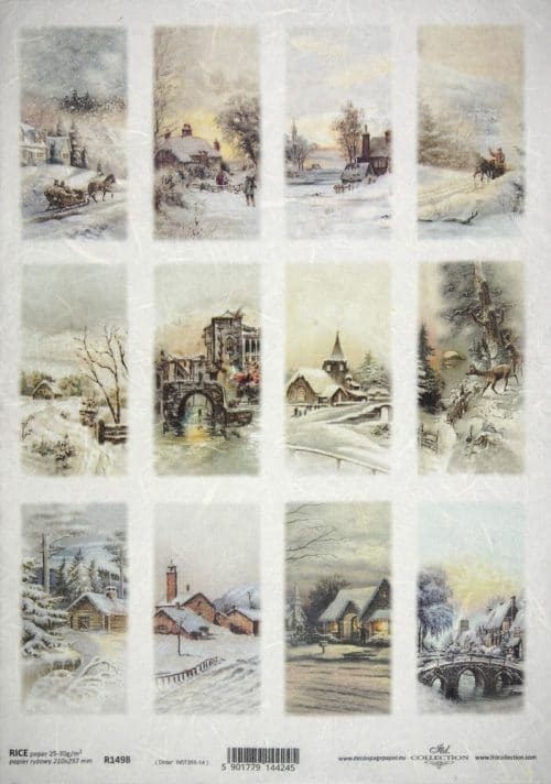 Rice Paper - Winter landscape tags