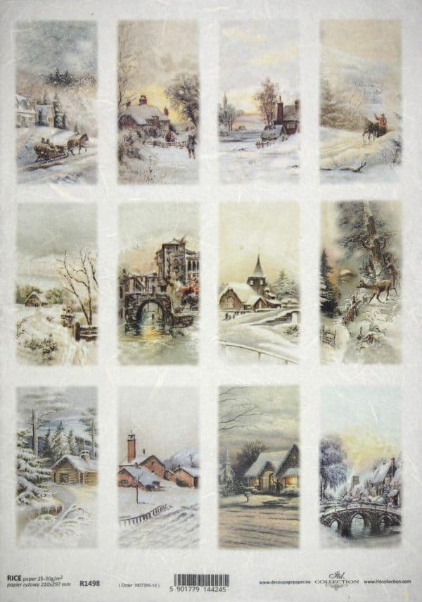 Rice Paper - Winter landscape tags