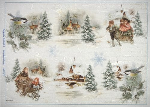 Rice Paper - Winter Villages small