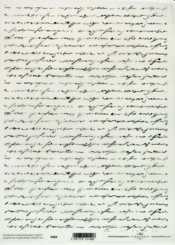 Translucent/Vellum Paper - white writing
