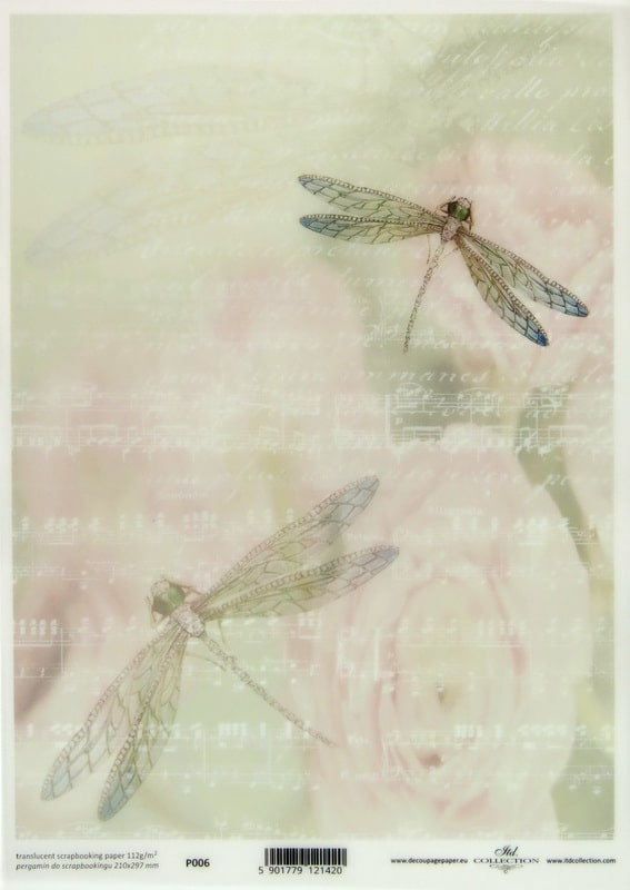 Translucent/Vellum Paper - Dragonfly