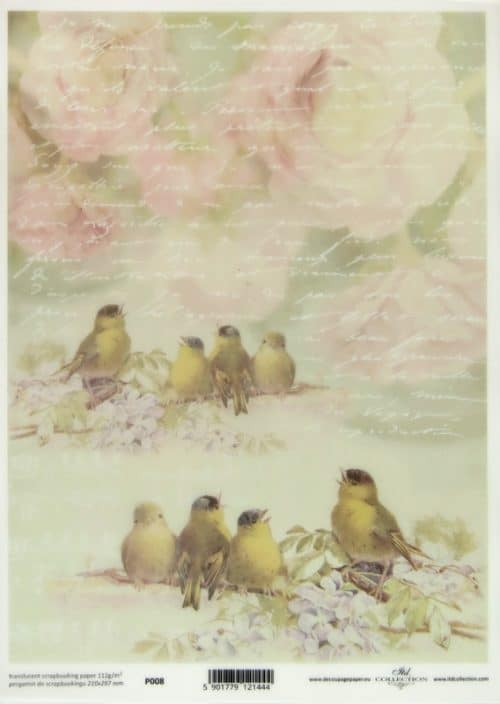 Translucent/Vellum Paper - Small Birds