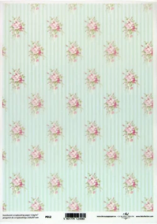 Translucent/Vellum Paper - Country Shabby Roses