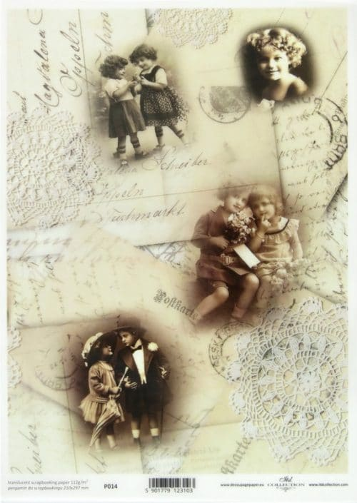 Translucent/Vellum Paper - Postcards with Children