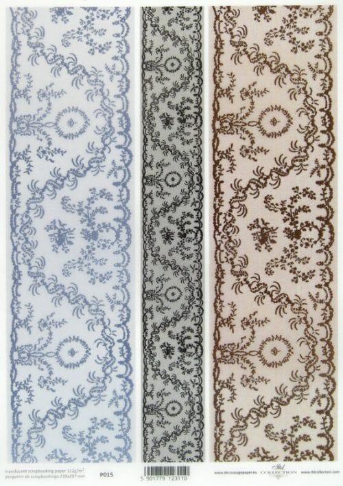 Translucent/Vellum Paper - Lace