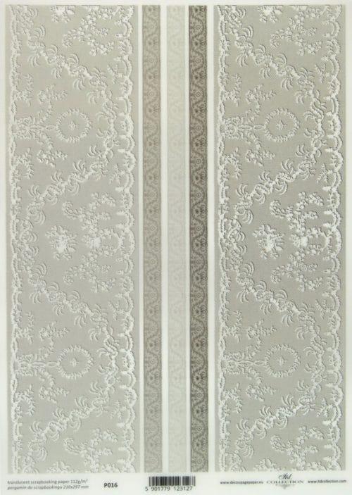 Translucent/Vellum Paper - Lace White