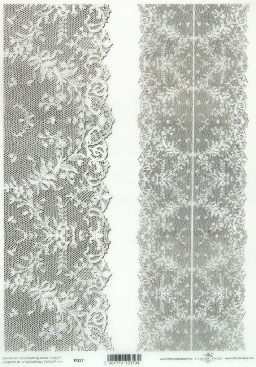Translucent/Vellum Paper - Lace White Ornaments