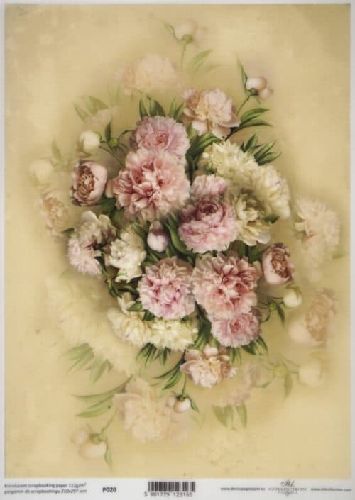 Translucent/Vellum Paper - Rose bouquet