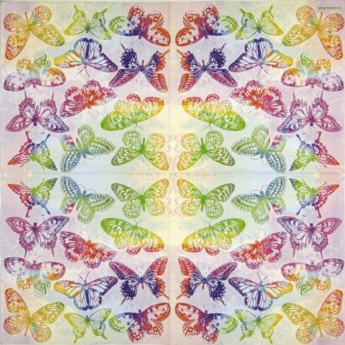 Paper Napkin - Aquarell Butterflies mix