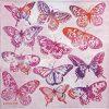 Paper Napkin - Aquarell Butterflies pink