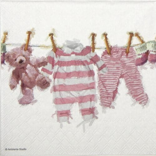 Paper Napkin - Baby Girl Clothes