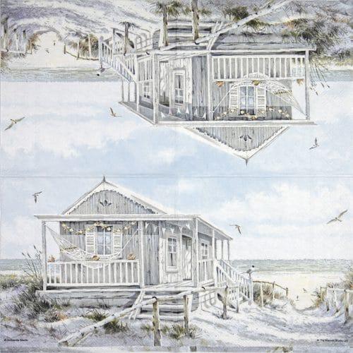 Paper Napkin - Beach cabin