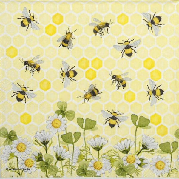 Lunch Napkins (20) - Bees joy