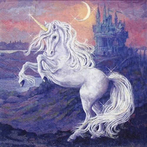 Paper Napkin - Fantasy unicorn