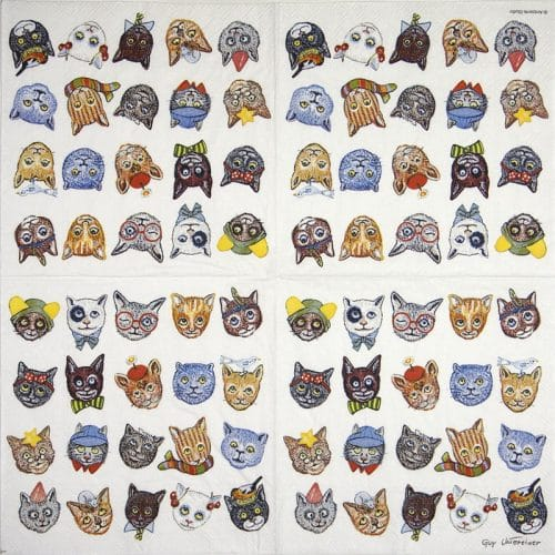 Lunch Napkins (20) - Funny cats