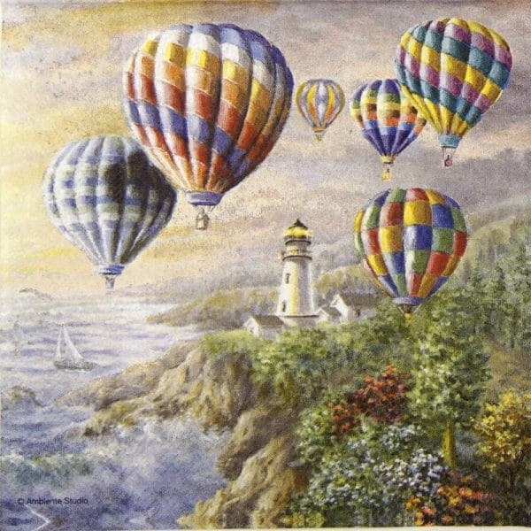 Lunch Napkins (20) - Hot air balloons