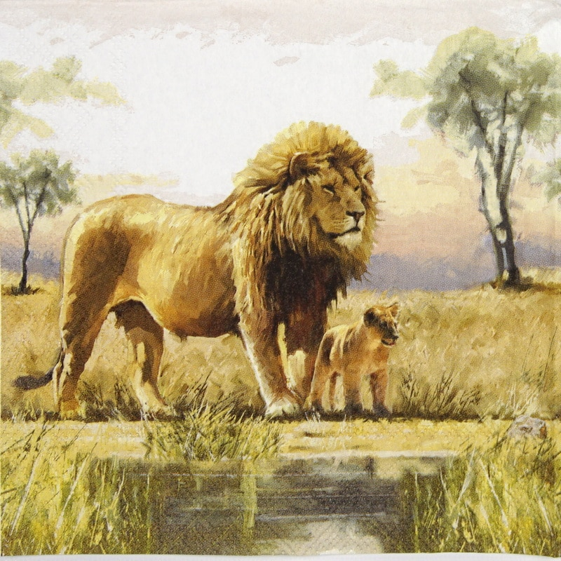 Lunch Napkins (20) - Lions