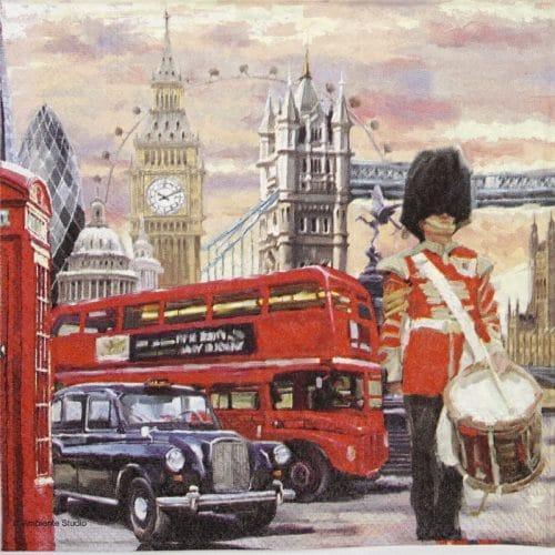 Paper Napkin - London street