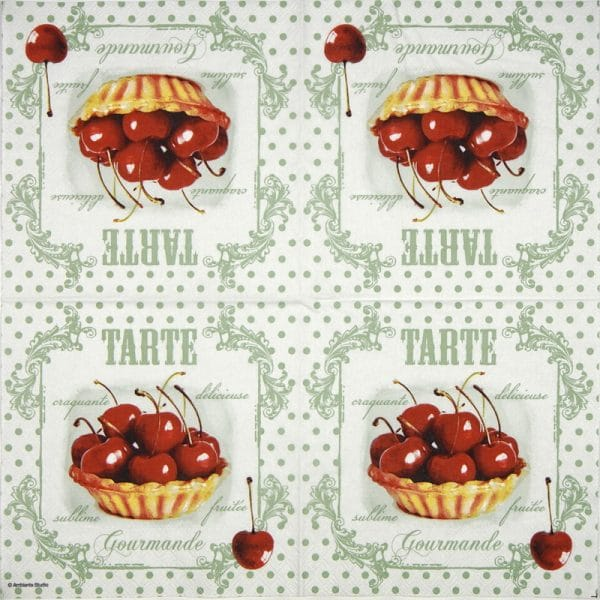 Paper Napkin - Red cherries