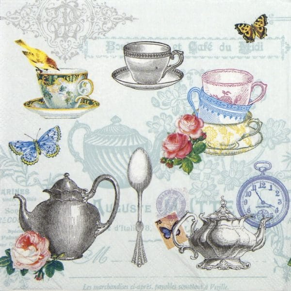 Lunch Napkins (20) - Tea mix blue