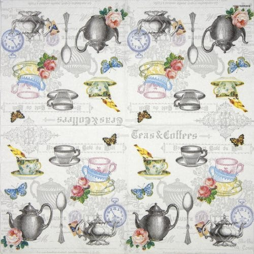 Paper Napkin - Tea mix white
