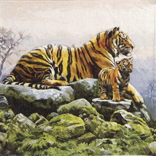 Lunch Napkins (20) - Tigers