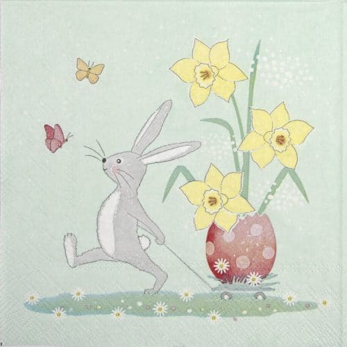 Lunch Napkins (20) - Walking Easter bunny