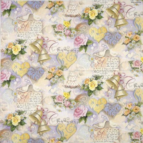 Lunch Napkins (20) - Wedding Bells Rose