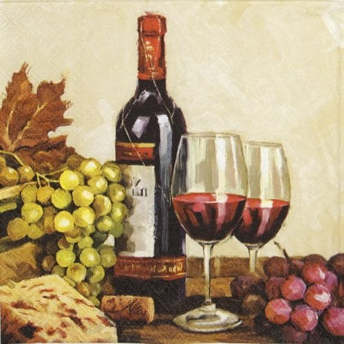 Lunch Napkins (20) - Wine and grapes